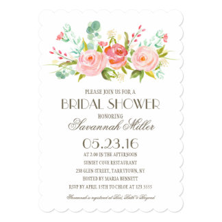 Rose Garden | Bridal Shower 13 Cm X 18 Cm Invitation Card