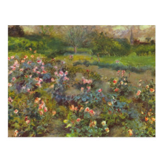 Rose Garden by Pierre Renoir Postcard