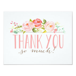 Rose Garden | Thank You Card 11 Cm X 14 Cm Invitation Card