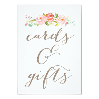 Rose Garden Wedding Cards & Gifts Sign