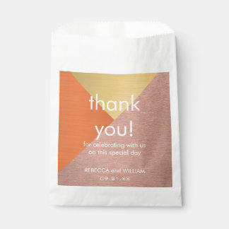 Rose Gold And Copper Wedding Favor Thank You Favour Bags