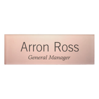 Rose Gold Employee Staff Magnetic Name Tag Badge