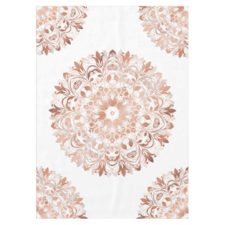 Rose Gold Floral Mandala Tablecloth
