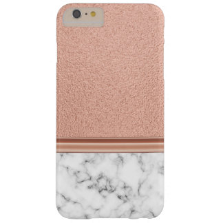 Rose Gold Foil on Marble Barely There iPhone 6 Plus Case
