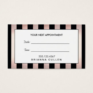 Rose Gold Hair Salon Appointment Reminder