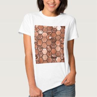 Rose gold hexaglam tee shirts