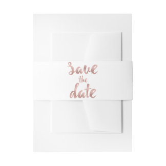 Rose gold invitation belly bands invitation belly band