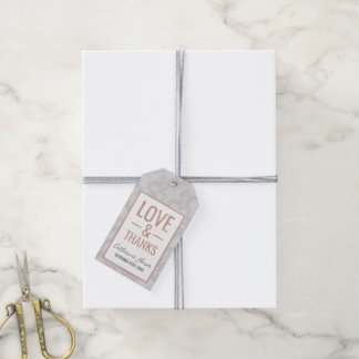 Rose Gold & Marble Love & Thanks Gift Tags