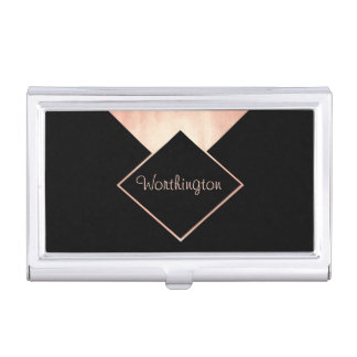 Rose Gold Trendy Modern Professional Business Business Card Holders