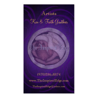 Rose & Lily Purple Swirl Business Cards