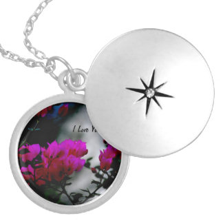 Rose locket with I love You