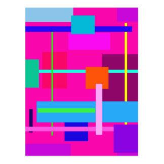 Rose Magenta Squares Postcard