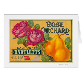 Rose Orchard Pear Crate Label Cards