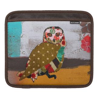 Rose Owl Vintage  iPad Sleeve