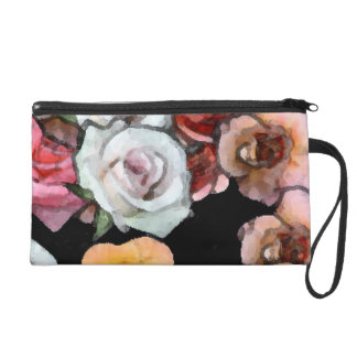 """Rose Painting"" Hand purse.""* Wristlets"