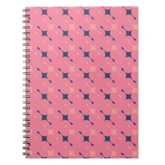 Rose pattern Spiral Photo Notebook