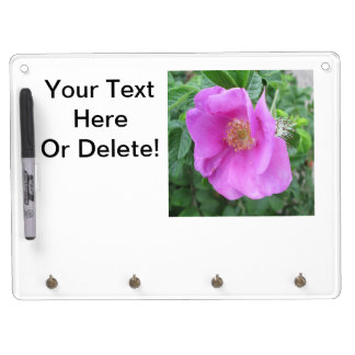 Rose Pink Beach Plum Dry Erase Board With Key Ring Holder