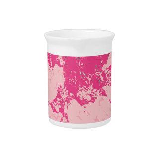 Rose Pink Floral Dahlia Flower Pattern Drink Pitchers