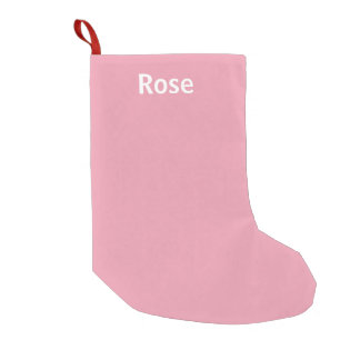 Rose Pink Personalized Christmas Stocking