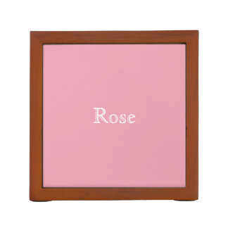 Rose Pink Personalized Desk Organizer