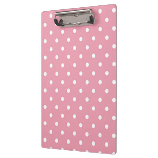 Rose Pink Polka Dots Clipboard