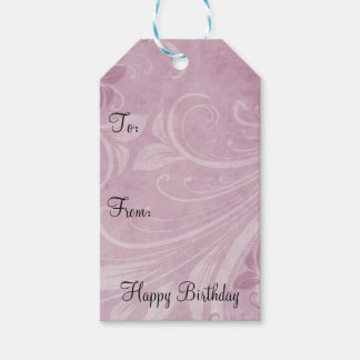 Rose Pink Swirls Pack Of Gift Tags