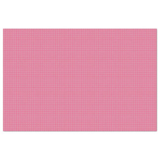 Rose Pink White Simple Plaid Pattern Tissue Paper