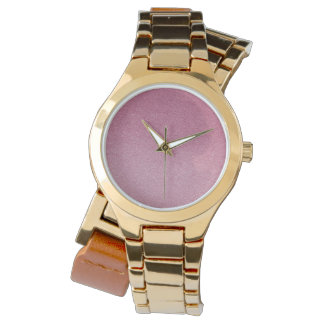Rose Quartz and Radiant Orchid Glitter Sand Ombre Watch