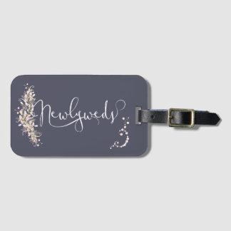 Rose Quartz Floral Honeymoon Luggage Tags