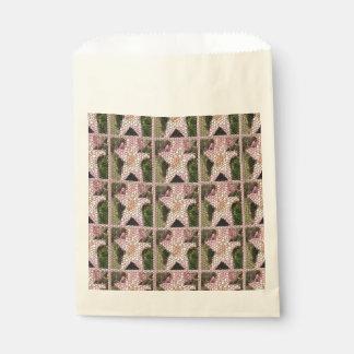 Rose Quartz Lilies Mosaic Squares Favor Bags Favour Bags