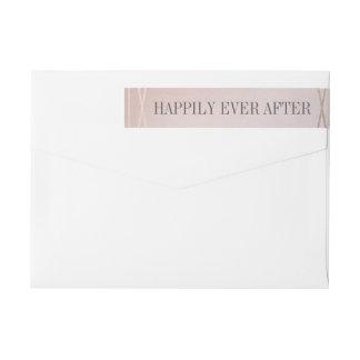 Rose Quartz Opaline Wedding Invitation Envelope Wraparound Return Address Label