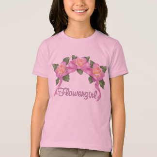 Rose Ribbon Wedding - Flowergirl T-Shirt