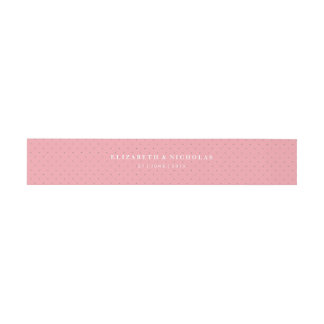 Rose Sketch Belly Band in Pink Invitation Belly Band