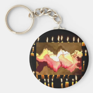 Rose Smile Hearts - Touched by an Angel Basic Round Button Key Ring