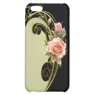 Rose Swirl Green GB Case For iPhone 5C