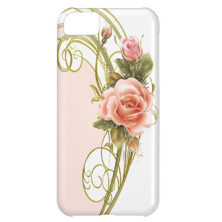 Rose Swirl Green PW iPhone 5 BarelyThere Case iPhone 5C Cover