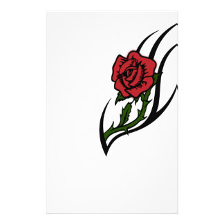 Rose tattoo stationery