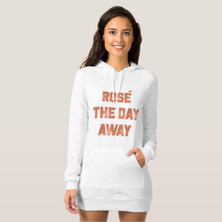 Rose` The Day way Wine Humor in Rosegold Foil Tee Shirts