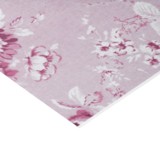 Rose Water Pink Vintage Floral Toile No.4 Tissue Paper