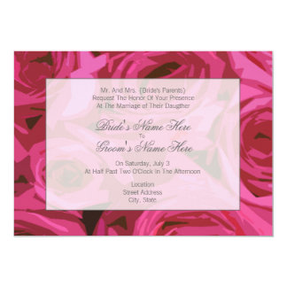 Rose Wedding Invitation - From Bride's Parents