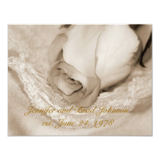 Rose Wedding Vow Renewal 11 Cm X 14 Cm Invitation Card