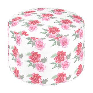 Rose wildlflower woodland garden pouf