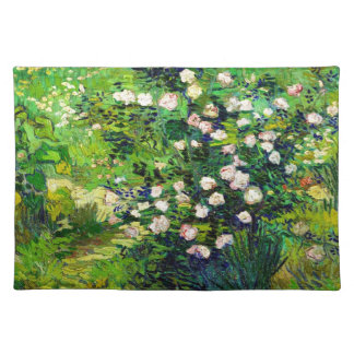 Rosebush in Blossom by Vincent Van Gogh Placemat