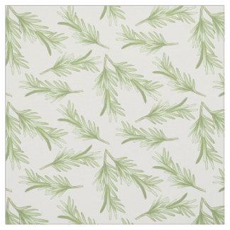Rosemary Sprigs Herbal Pattern Fabric