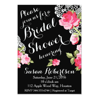 Roses and Lace Bridal Shower Invitation