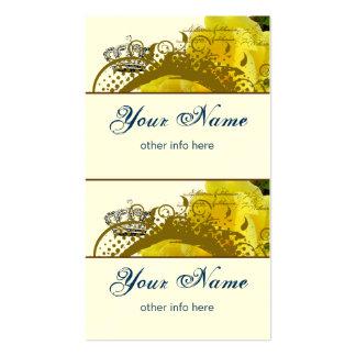Roses Crown Swirls Butterflies Mini Tags Business Card