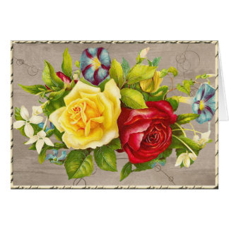Roses Greeting Card white envelopes included