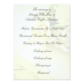 Roses, hyacinths, old handwriting fade card