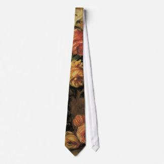 Roses in a Vase by Pierre Renoir, Vintage Fine Art Tie