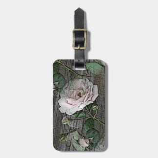 Roses on Wood Luggage Tag